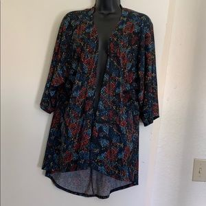 Lularoe aztec pattern cover up layering top